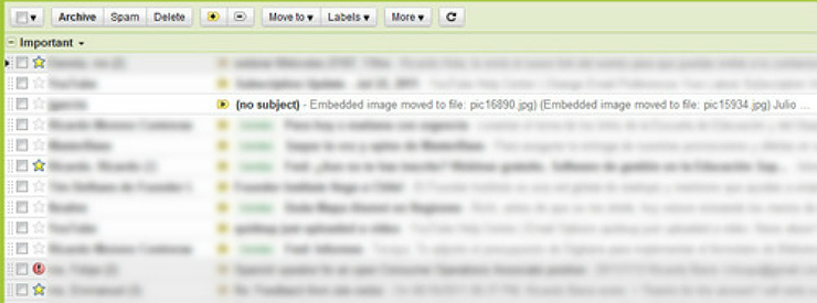 Email sin asunto