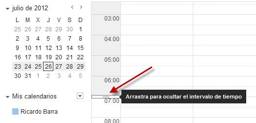 Ajustar rango horario de Google Calendar