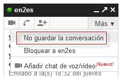 No guardar conversación