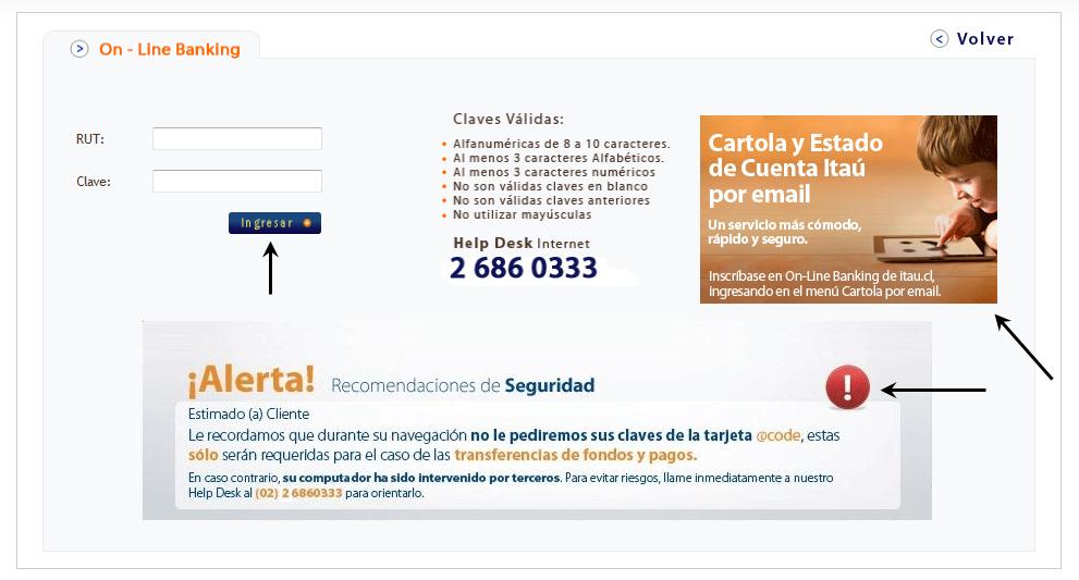 Banco Itaú diagramacion
