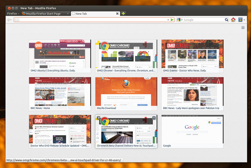 Firefox nueva pestaña