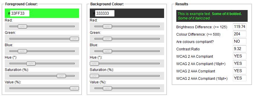 Contrast Color Check