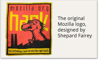 Primero logo de Mozilla