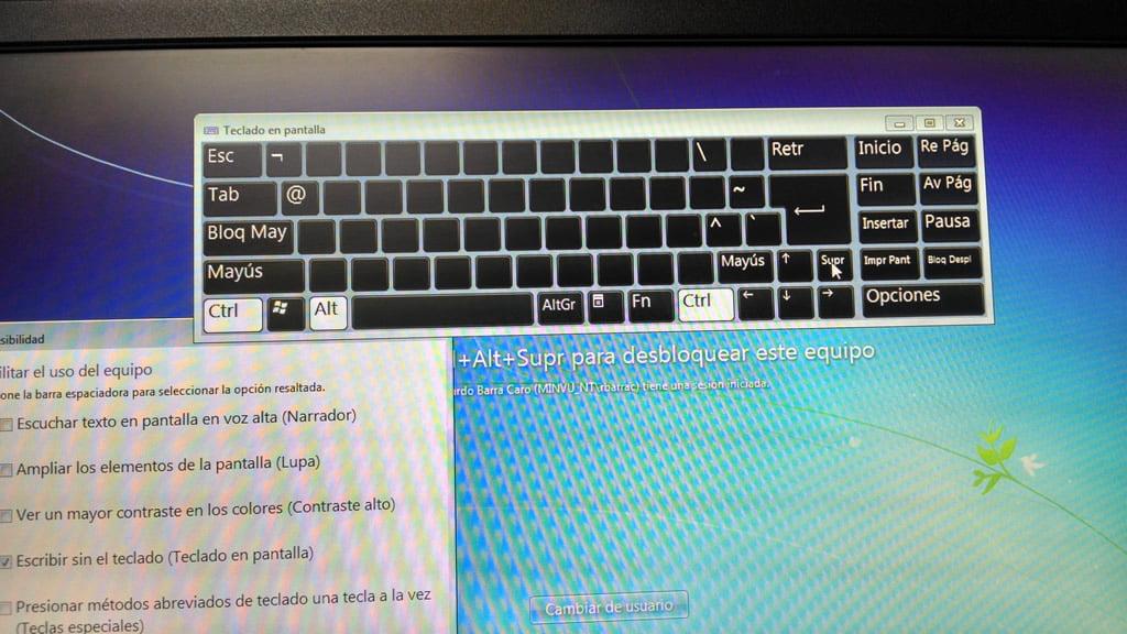Teclado virtual en Windows