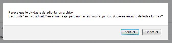Alerta sobre archivo adjunto en Gmail