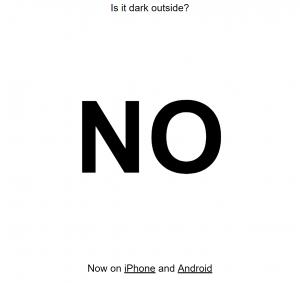 ¿Está oscuro afuera?